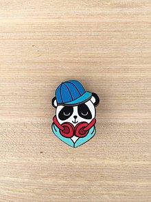 Galantéria - brošňa odznak panda - 11957952_