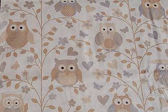 Textil - metráž sovy - 11954927_