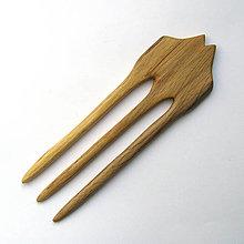 Ozdoby do vlasov - Drevená ihlica do vlasov - špaltovaná buková - 11956791_