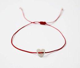 Náramky - Mini Strieborné srdce - 11962479_