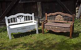Nábytok - Lavička s úložným priestorom Limbak biely (labute) - 11961441_