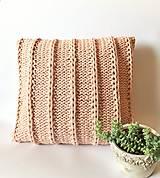 Úžitkový textil - Vankúše PASTELS  (púdrová ružová) - 11961049_