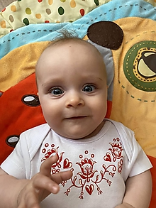 Detské oblečenie - maľovaný set pre novorodeniatko - 11959470_