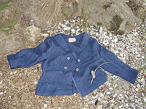 Kabáty - Kabátik-sako, vlna s ľanom - 11958878_