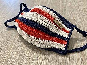 Rúška - Háčkované rúško námornícke - 11961812_