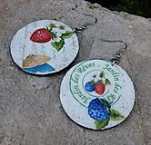 """Náušnice - Náušnice """"Čučoriedky s citrónmi"""" - 11962215_"""