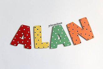Tabuľky - Drenené písmenká farebné ALAN - 11961637_