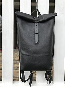 Batohy - kožený batoh_širšie dno - 11962335_