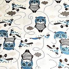 Textil - letec medvedík, 100 % bavlna Poľsko, šírka 160 cm - 11959310_