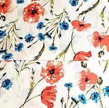 Textil - mak a nevädza, 100 % certifikovaná bavlna Poľsko, šírka 160 cm - 11959327_