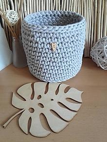 Košíky - Košík obal na kvetináč Scandinavia svetlošedý - 11959954_
