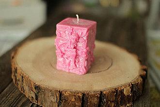 Svietidlá a sviečky - Sviečka Víla  (Ružová) - 11961103_