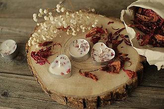 Svietidlá a sviečky - Sójová čajová sviečka Pivonka/ruža - 11961189_