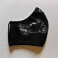 Iné - Rúško mužské s motorkou - Easy Rider white&black sport - 11960624_