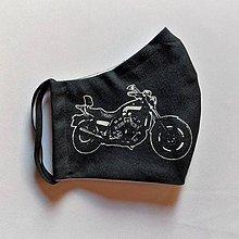 Doplnky - Rúško pre mužov - motorka - Easy Rider white&black chopper - 11960644_