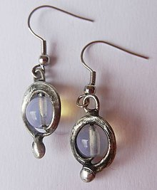 Náušnice - Cínované naušnice-Mesačný kameň - 11959145_