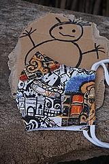Rúška - Detské rúško -  Komiks - 11961801_