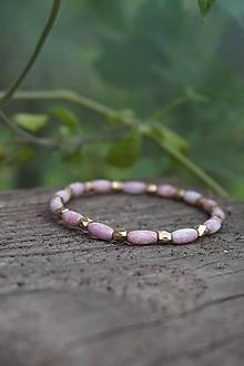 Náramky - Náramok ružovo - zlatý - 11961485_