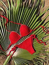 Bielizeň/Plavky - Bikini na mieru REAL RED with GOLD - 11961060_