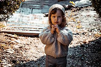Detské oblečenie - Sveter Kaja vo farbe Almond - 11960580_