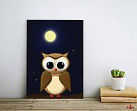 Obrázky - Sovička - Art print autorskej ilustrácie - 11959284_