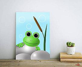 Obrázky - Žabka - print autorskej ilustrácie - 11959468_