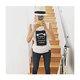 Tielka - Biele tielko Abstraktné stavy - 11959823_