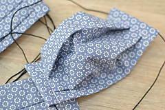 Rúška - detské ochranné bavlnené rúško skladané (Modrá) - 11959240_