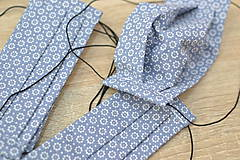 Rúška - detské ochranné bavlnené rúško skladané (Modrá) - 11959241_