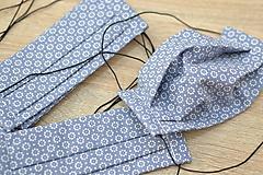 Rúška - detské ochranné bavlnené rúško skladané (Modrá) - 11959242_