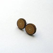 Náušnice - Drevené náušnice napichovacie - z morušovej halúzky - 11961947_