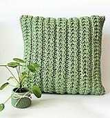 Úžitkový textil - Vankúše PASTELS  (svetlá zelená) - 11964266_