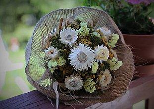 Dekorácie - Kytica zo sušených kvetín - 11963582_