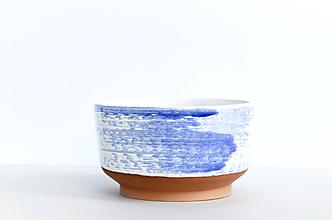 Nádoby - Bielo modrá miska - 11966213_