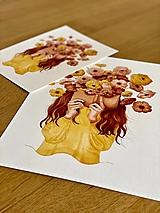 - Kvetinová poézia - Print | Botanická ilustrácia (A5) - 11962827_