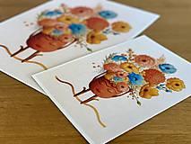Grafika - Rozkvitnutá Frida - Print | Botanická ilustrácia - 11962845_