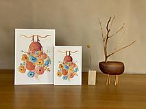 Grafika - Rozkvitnutá Frida - Print | Botanická ilustrácia - 11962846_