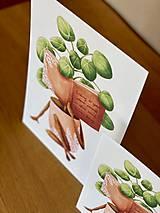 Grafika - Dobré čítanie - Print | Botanická ilustrácia - 11962882_