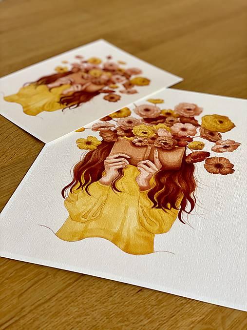 Grafika - Kvetinová poézia - Print | Botanická ilustrácia - 11962827_