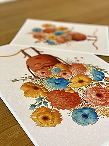 Grafika - Rozkvitnutá Frida - Print | Botanická ilustrácia - 11962844_