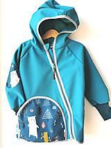 """Detské oblečenie - Softshellka """"happy animals"""" - 11965245_"""