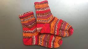 Obuv - Ponožky - čerešňové víno (č.38-39) - 11963964_