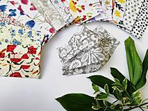 Rúška - Dámske / dievčenské 1-vrstvové RÚŠKO s drôtikom - nové vzory (vtáčiky a kvety) - 11965966_