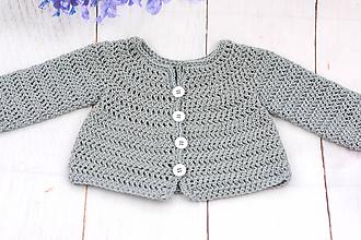 Detské oblečenie - Šedý svetrík pre novorodenca EXTRA FINE - 11964909_