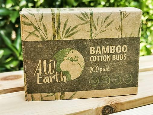 Bambusové vatové tyčinky krabička 200ks