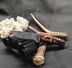Nože - Damaškový nôž - breza - 11966281_
