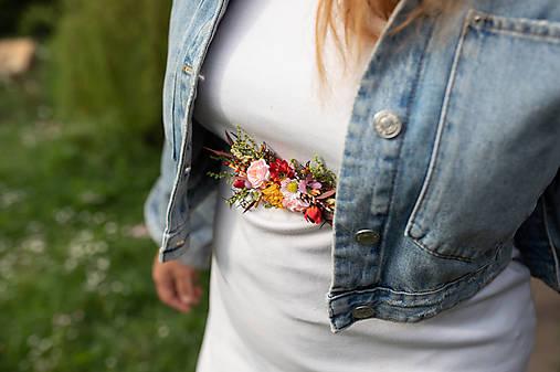 """Kvetinový opasok """"natrhám si šťastie"""" - menší"""