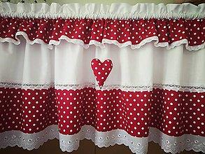 Úžitkový textil - Záclonka malinová - 11964821_