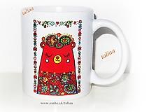 Nádoby - Keramický hrnček MEDVEDÍK ♥ - 11966429_