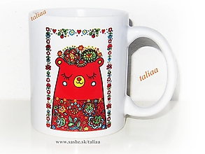 Nádoby - MEDVEDÍK - keramický hrnček - 11966429_